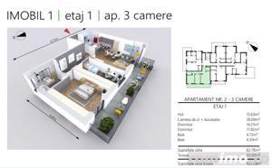 DEZVOLTATOR | Apartament NOU 3 camere | 2 bai | etaj 1 - imagine 2