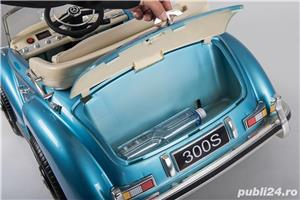 Kinderauto Mercedes 300S Oldtimer Cu ROTI MOI #Albastru - imagine 5