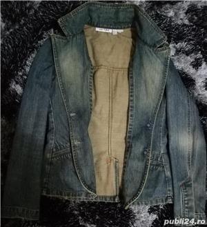 Jacheta din blugi ZARA - imagine 5