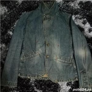 Jacheta din blugi ZARA - imagine 4