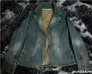 Jacheta din blugi ZARA - imagine 1