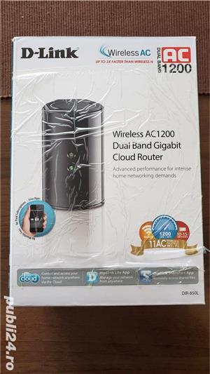 Router Wireless D-Link DIR-850L AC 1200, 4 x Gigabit LAN - imagine 2
