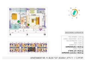 Mutare imediata! etaj 2, 2 camere, Langa Monaco Towers - imagine 8