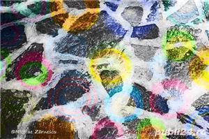 Vând print 70x50cm pe pânză tablou (Waves & Circles – fotografie premiată internațional) - imagine 1