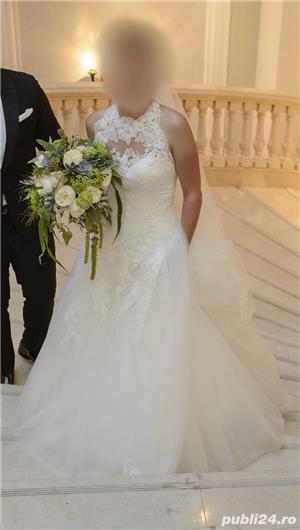 Rochie de mireasa Pronovias, model Drisara (voal inclus) - imagine 2