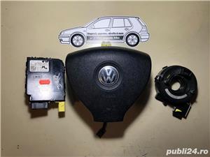 Vand kit complet retrofit volan cu comenzi + Airbag Golf 5 Touran, etc - imagine 2