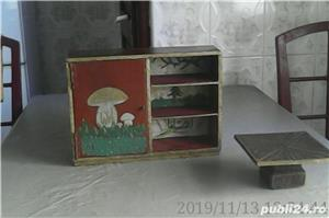 Vând: Mobilă de jucărie din lemn, 8 piese făcute manual, vechime peste 100 ani - imagine 2