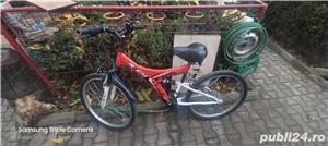 Bicicleta 24 RICH R2448A alb rosu pentru copii stare impecabila 9 din 10,zona voluntari - imagine 1