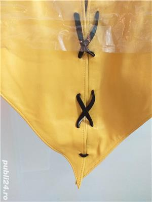Vând rochie galbenă designer piele naturală - imagine 4