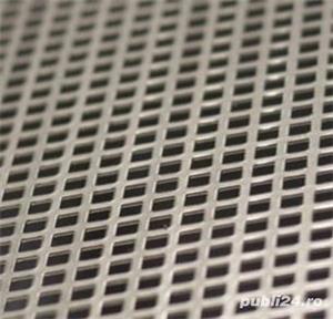 Tabla perforata otel 1.5x1000x2000mm C10U15 Q10T15 gaurita stantata sita perforatie patrata 10mm - imagine 1