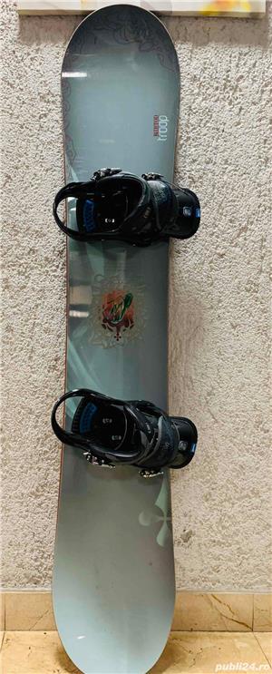 Snowboard Burton 151cm + Legaturi Burton P1 - Dama - imagine 2