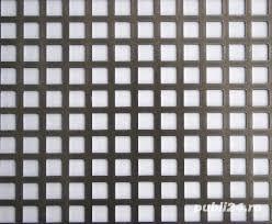 Tabla perforata otel 1.5x1000x2000mm C10U15 Q10T15 gaurita stantata sita perforatie patrata 10mm - imagine 2