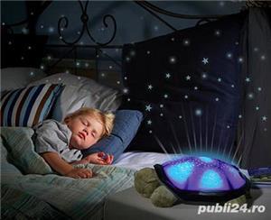 3 in 1 proiector constelatie jucarie muzicala lampa veghe veioza cer instelat broasca testoasa - imagine 3
