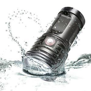 Lanternă cu LED 3xXHP70 USB reîncărcabilă impermeabilă - imagine 2