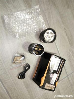 Lanternă cu LED 3xXHP70 USB reîncărcabilă impermeabilă - imagine 3