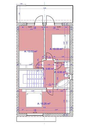 Vind case individuale Braytim, 4 camere , toate utilitatile 145 mpc , asfalt - 129.900 Euro - imagine 4