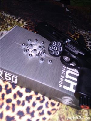 BILE CAUCIUC Revolver Calibrul 50 greutate 3 GRAME,Autoaparare,Forta 15 JOULI,airsoft,pistol,pusca ! - imagine 3