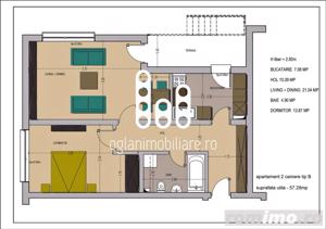 Apartament 2 camere decomandat 57 mp utili in Selimbar - imagine 7