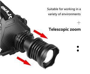 Lanterna cap led XHP70 zoom, 3 acumulatori - imagine 4