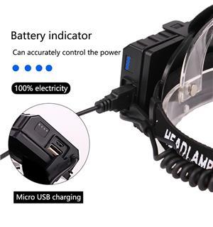 Lanterna cap led XHP70 zoom, 3 acumulatori - imagine 5