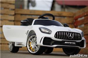 Masinuta electrica pentru copii Mercedes GT-R Alb Nou - imagine 2