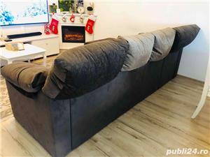 Canapea coltar cu tetiere regalbile - imagine 3