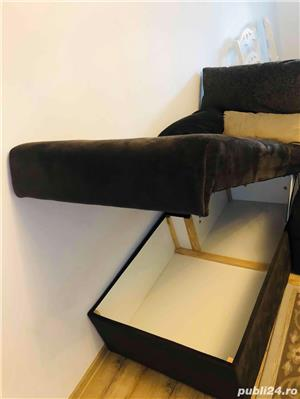 Canapea coltar cu tetiere regalbile - imagine 2