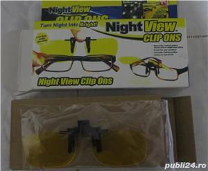 Lentile Night Vision cu clips de ochelari pentru condus noaptea  - imagine 1