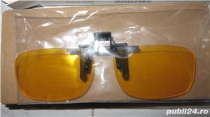 Lentile Night Vision cu clips de ochelari pentru condus noaptea  - imagine 2