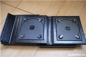 Carcasa Lux 4 DVD piele neagra + poza si cutie - imagine 4