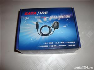 Adaptor recuperat date HDD IDE Sata USB laptop sau calculator desktop - imagine 1