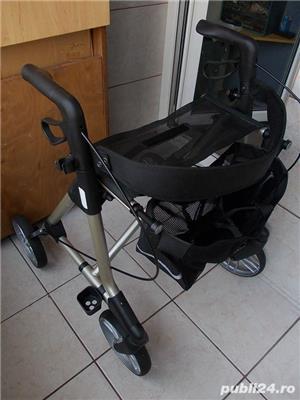 Rollator ELAN Classic,cadru mers aluminiu cu roti ortopedic modern pliabil,rolator ca nou - imagine 1
