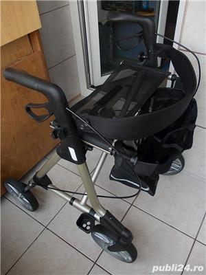 Rollator ELAN Classic,cadru mers aluminiu cu roti ortopedic modern pliabil,rolator ca nou - imagine 2