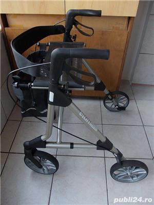 Rollator ELAN Classic,cadru mers aluminiu cu roti ortopedic modern pliabil,rolator ca nou - imagine 4