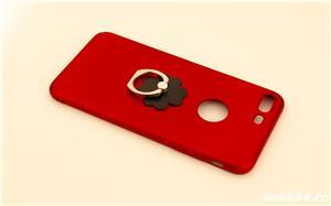 Carcase iPhone 7 Plus Rosu-Auriu cu inel - imagine 2