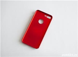 Carcase iPhone 7 Plus Rosu-Auriu cu inel - imagine 3