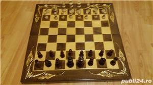 Cutie Joc 50x50x4 cm pentru sah-table-dame cu set piese incluse  - imagine 5