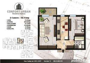 2 cam.bloc nou, spatios si modern, et. 6, confort urban, bloc nou, 56 mp/58900€, - imagine 5