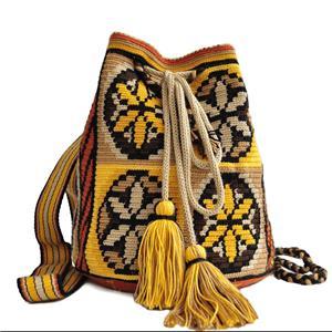 set genti handmade crosetate ornamentate cu motivul popular din Maramures scara matii și soare - imagine 2