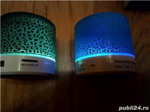 Boxa cu Bluetooth, Radio FM, USB, microSD, slot USB, Handsfree + efecte Luminoase  - imagine 4