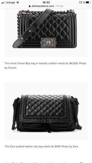 Geanta Zara/Chanel piele noua! - imagine 4