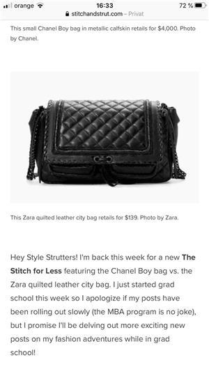 Geanta Zara/Chanel piele noua! - imagine 3