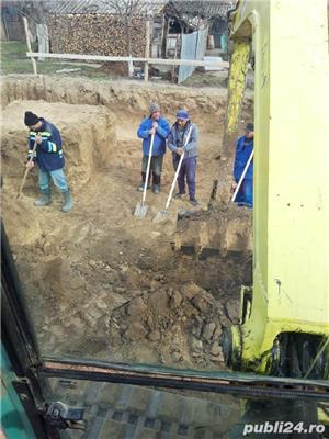 Buldoexcavator,Demolari,Sapatura,Santuri,Fundatie,Sant,Cablu electric  - imagine 3