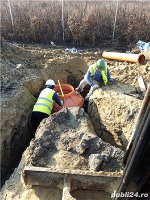 Excavator cu Picon.Foreza,Burghiu.Sapaturi canalizare,apa,fibra optica  - imagine 6