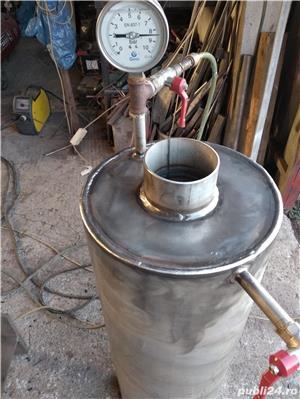 Boilere de inox pe lemne pe comanda - imagine 1