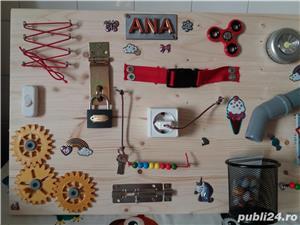 Placa senzoriala busyboard Montessori - imagine 4
