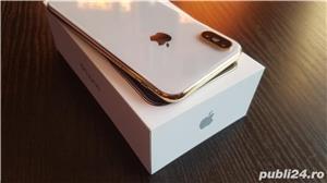 iphone x 24k gold edition placat/suflat cu aur 24 karate,neverlocked - imagine 3
