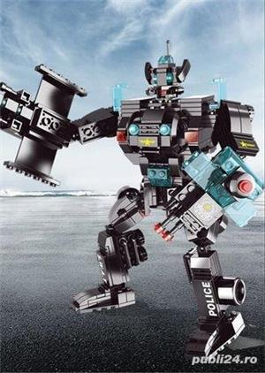 Politie ROBOT 501 piese creator avion city auto tip lego armata razboi - imagine 1