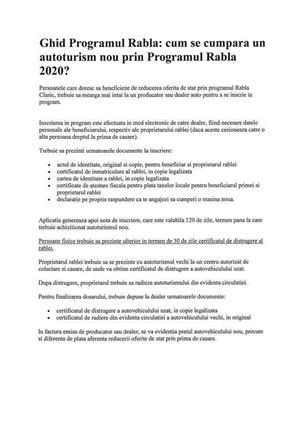 Voucher pentru Programul Rabla 2020  - imagine 5
