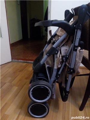 Carucior Baby Care cu maner reversibil - maro(utilizat) - imagine 3